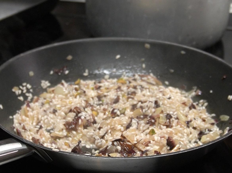 Monte del Frà Pairings: Custoza Cà del Magro con risotto al radicchio, robiola e pistacchi