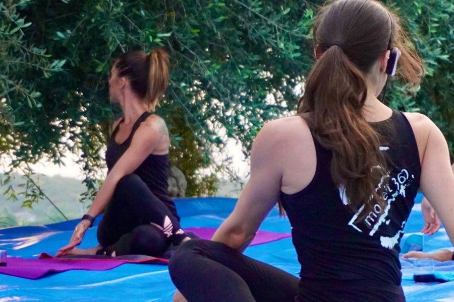 wein yoga Italy