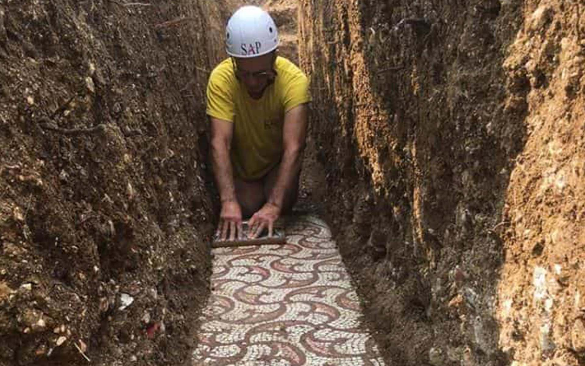 Among the vineyards of the Amarone wine : a new Roman mosaic discover