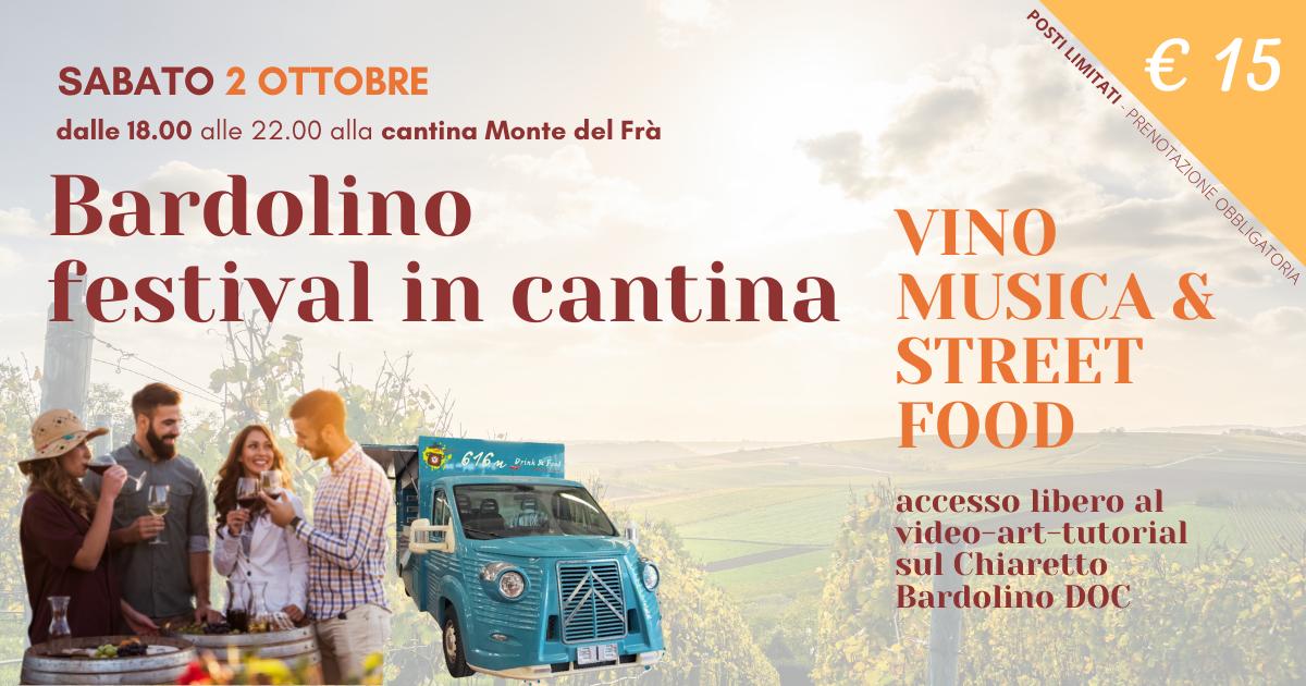 Bardolino Festival in cantina Monte del Frà – Sabato 2 Ottobre